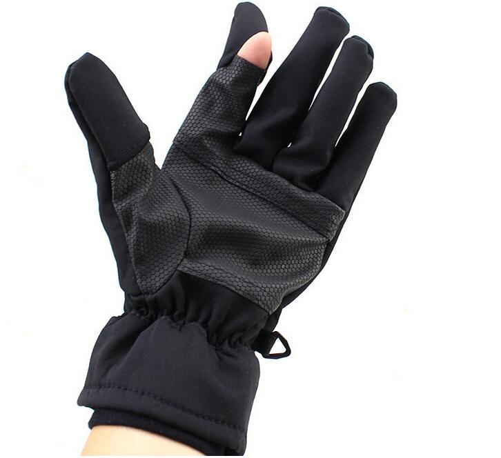 Outdoor wear non slip waterproof cold Finger Winter Black