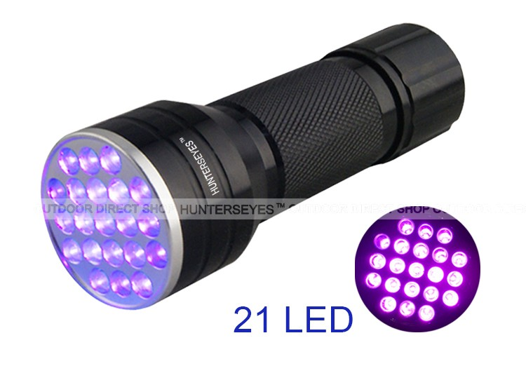 380-385NM 21 UV leds flashLight Torch pet urine detector with good effect D12UV