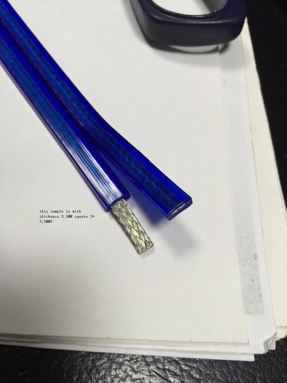 transparent blue flat speaker cable.JPG