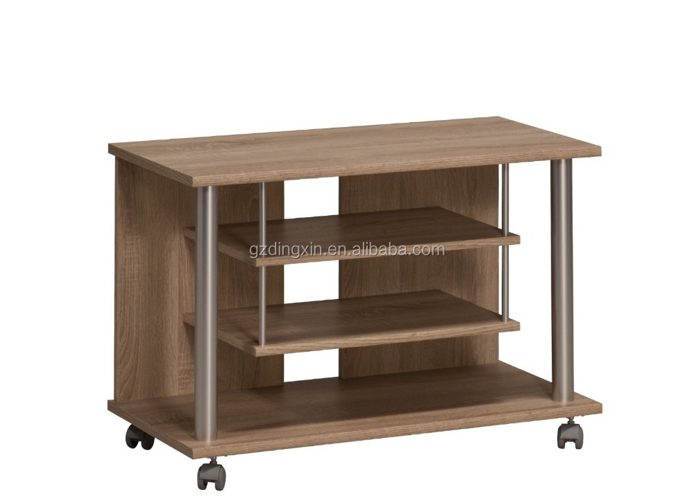 Wooden Lcd Tv Stand Design With Wheels Home Office