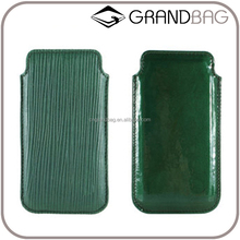 2016 new fashion deep green epi leather phone case, hard case for iphone SE, phone holder for iphone 6s/plus