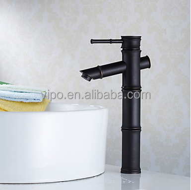 Bamboo-like Antique Brass Water Tap for Washbasin