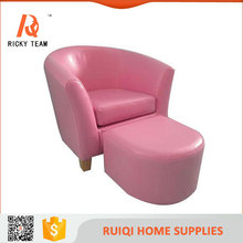 Pink children living room leather chair children sofa