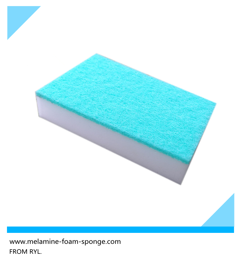 High Demand Dish Washing Melamine Foam Sponge Composite Scouring Pads Cloth