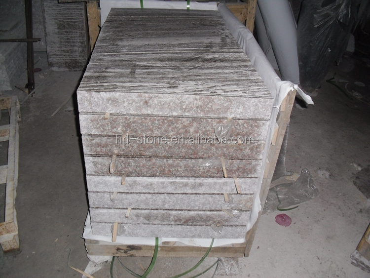 Popular Cheap Chinese Bainbrook Peach Red G687 Granite Natural Stone for Wall Skirting Tiles