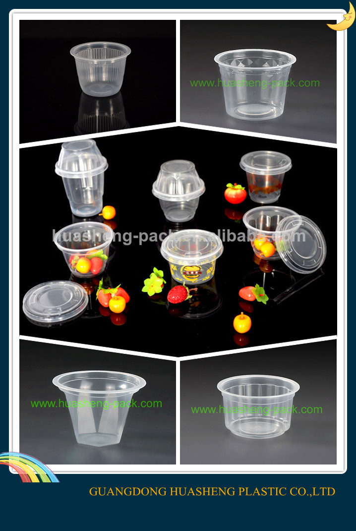 3oz mini disposable plastic saucer cup icecream yard cup type
