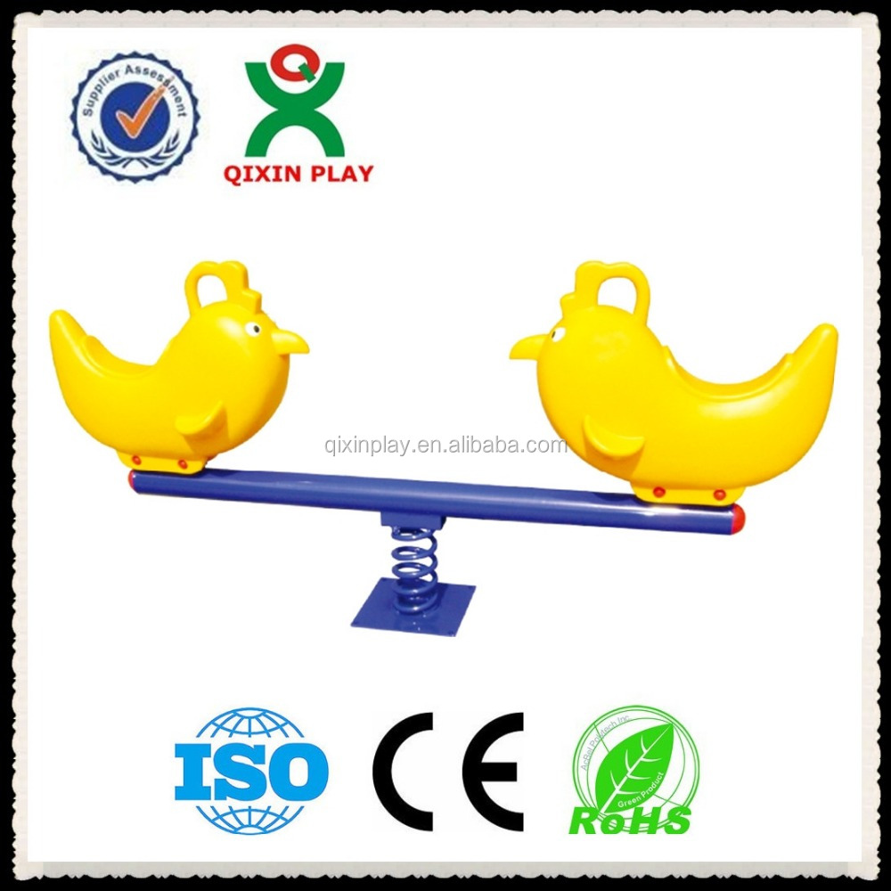 swing and seesaw,commercial play equipment,adventure play equipment(QX-096C)