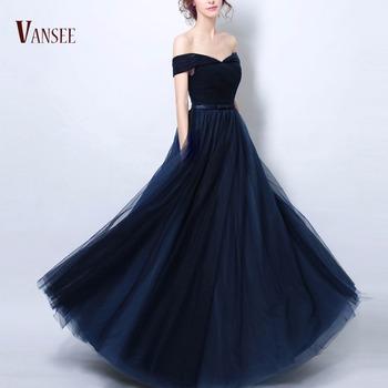 Vestido azul noche