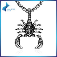 men stainless steel Scorpions animal necklace