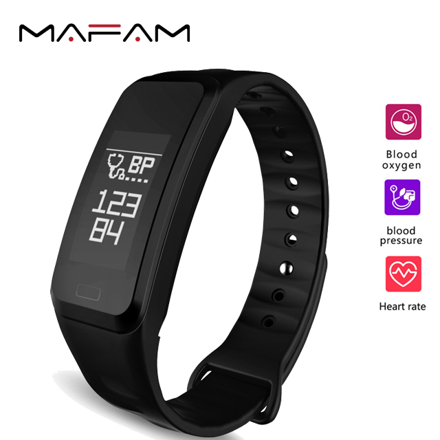 MAFAM R1 Smart Watch Bracelet Band Calorie Counter Wireless Pedometer Heart Rate Blood Pressure Oxygen Sport Activity Tracker