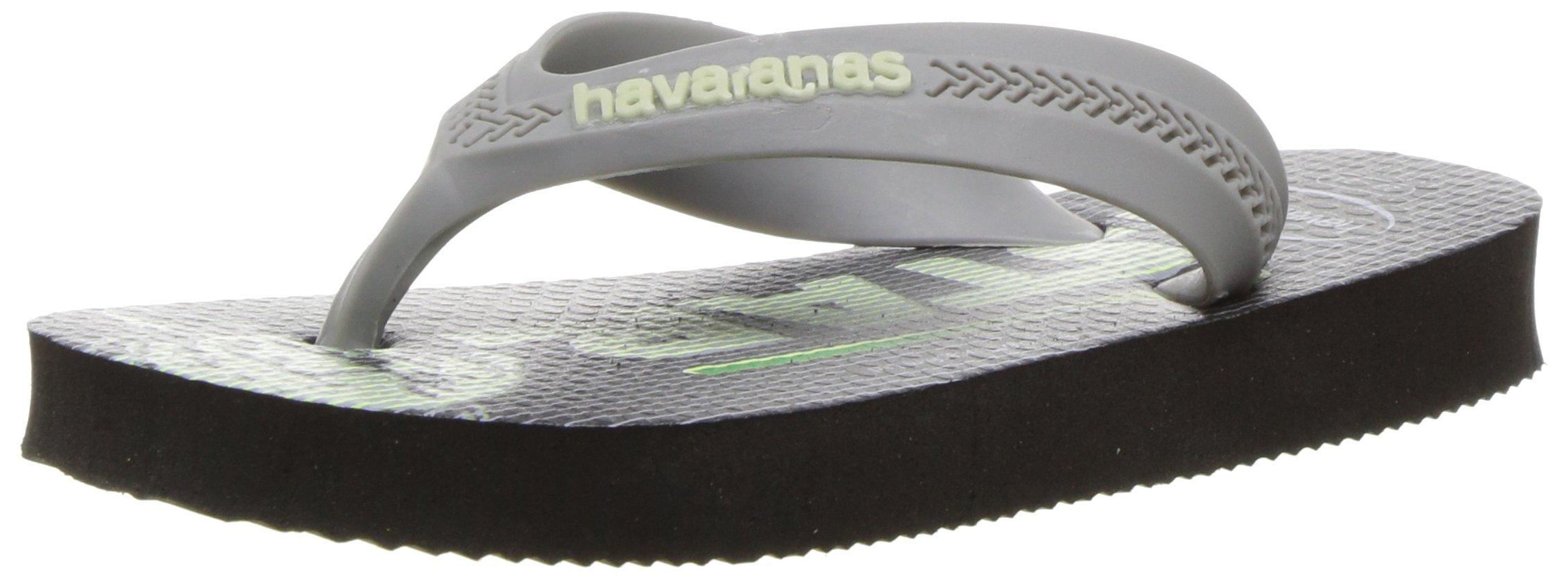2ff427c25 Get Quotations · Havaianas Kids  Max Star Wars Sandal Black Flip Flop