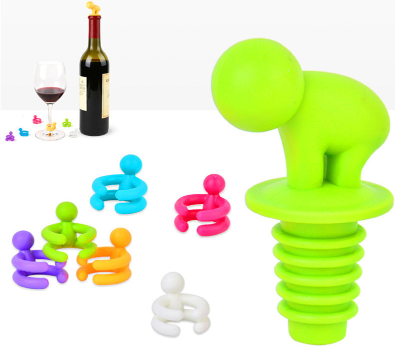 OEM silicone bottle stopper silicone drinking stopper silicone cocktail stopper