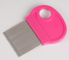 plastic anti nit free stainless steel double teeth head lice comb
