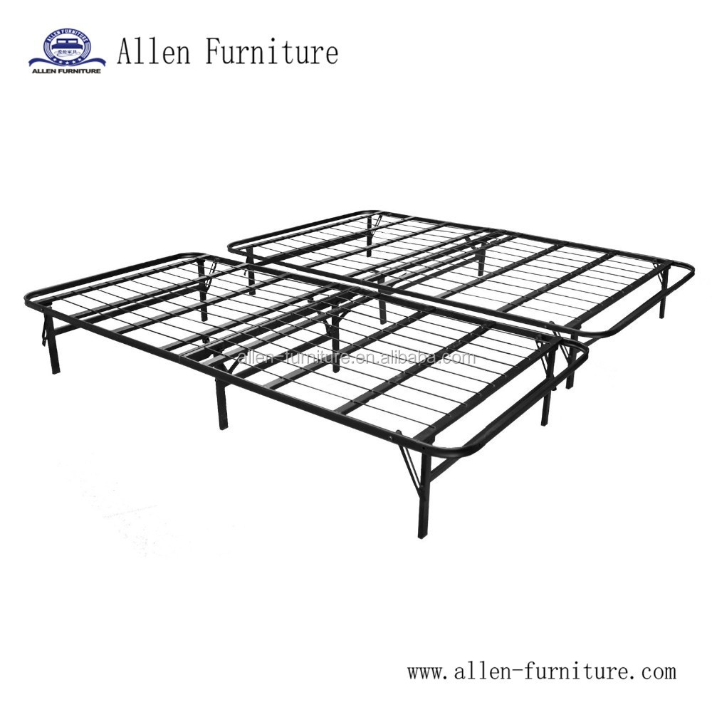 - New Modern Bi Fold Folding Platform Metal Bed Frame Mattress