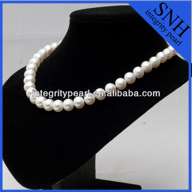 Fancy AAA 18 inch natural white heart clasp real pearl necklace price