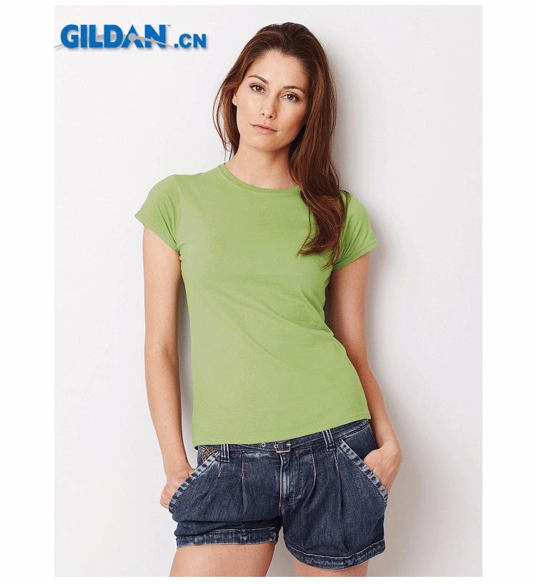 Oem custom logo printing womens colorful blank plain dri Custom printed women s t shirts