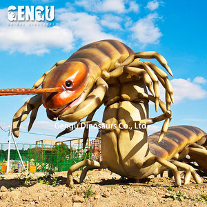 Amusement park large animatronic centipede model for sale