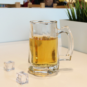 SingGwan sales clear transparent handle glass mug beer cup