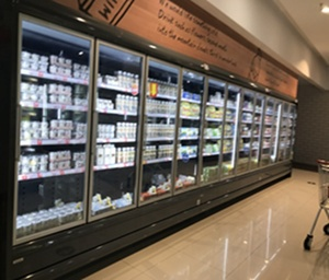 Commercial 3 glass doors refrigerator freezer supermarket large beverage cooler equipment factory price
