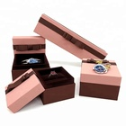 Pink custom wholesale luxury cardboard gift paper jewelry packaging box with bow tie