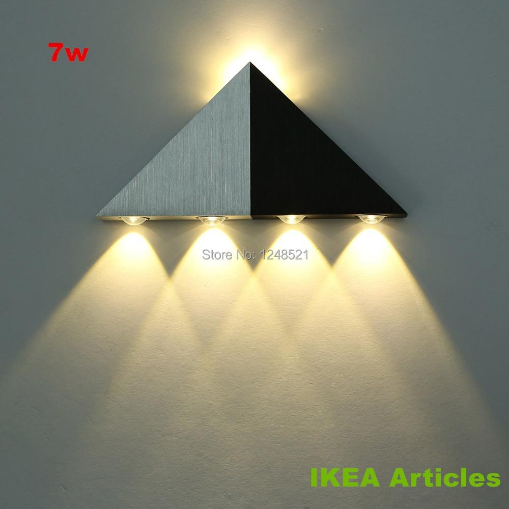 2014 hot high quality decor wall lamp 7w warm white led wall light ac85v 265v. Black Bedroom Furniture Sets. Home Design Ideas