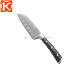 Premium double forged handle 5 inch small santoku knife