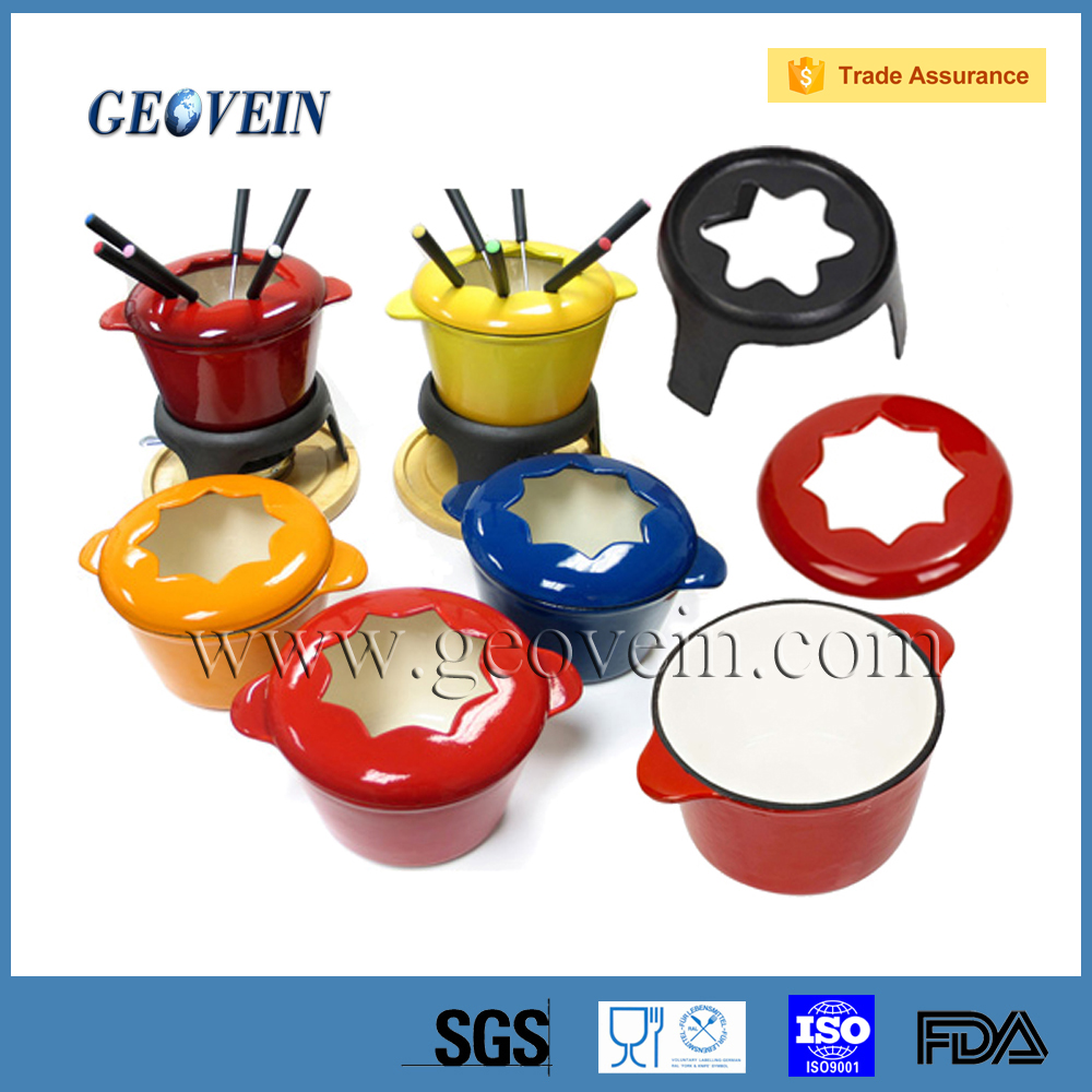 New product chocolate Chinese fondue set with many color