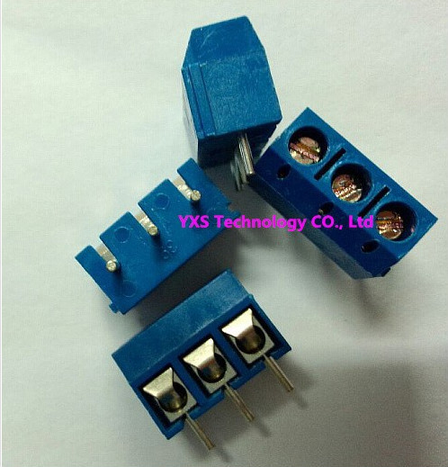 New screw type terminal KF301-5.0mm PCB terminal 300V 16A KF301-3P 5.0mm blue 3pins block type connector