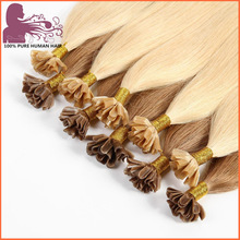 Competitive Price Colorful Customized keratin hair extensions u tip