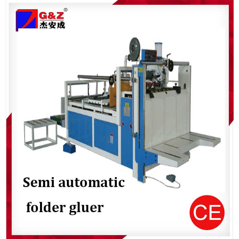 CE certification corrugated box glue machine/folder gluer for carton