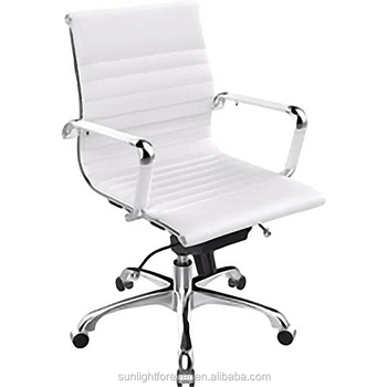 White Leather Office Chair/modern Computer Office Furniture/swivel Chair -  Buy Computer Chair,Ergonomic Chair,Staff Chair Product on Alibaba.com