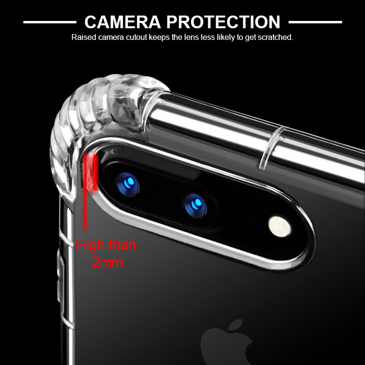 Guangzhou wholesale Shockproof transparent soft TPU case for iphone 8 7 8plus, For iPhone 8 Case tpu