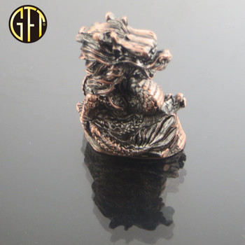 New product New trend in 2018 custom new model 3D 12 Chinese zodiac animal brass metal Dragon figurines for souvenir