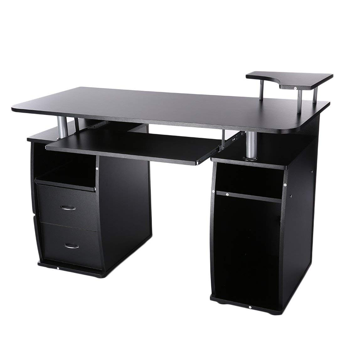 Get Quotations · Office Computer Desk Laptop Work Station Home PC Table  Notebook Desk With Elevated Printer Shelf Home