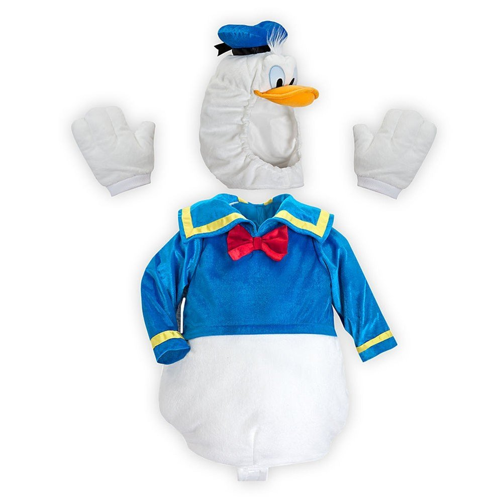 2af026c9ce86 Disney Store Donald Duck Deluxe Plush Halloween Costume Size XXS 3 3T 3  Years