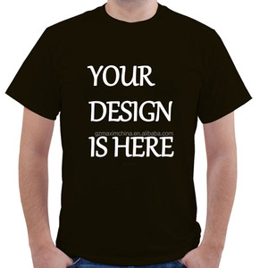 Custom Logo Print T Shirt O Neck Adult Bulk Promotional 1 Dollar T Shirts