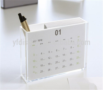 new year acrylic desk calendar holder for promotional gifts buy