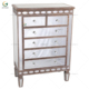 Wholesale modern bedroom mirror jewelry cabinet with drawers