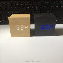 new product desk wood clock with temperature