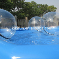 2017 new style giant inflatable human clear plastic bubble ball aqua ball for water park or pool