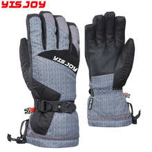 2018 new design superlative warm adjustable snow ski gloves best snowboard gloves with wrist protection