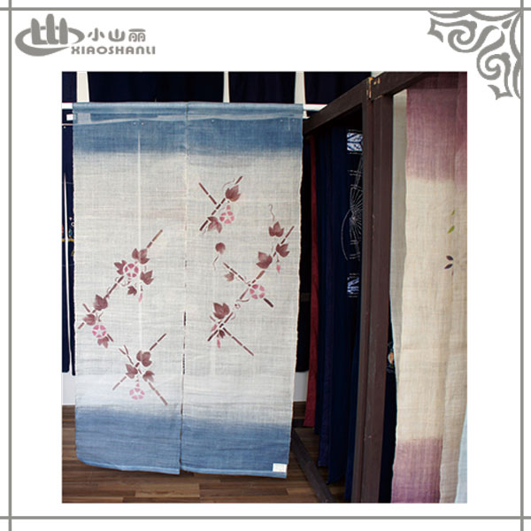 Hand drawn Japanese decorative door curtain