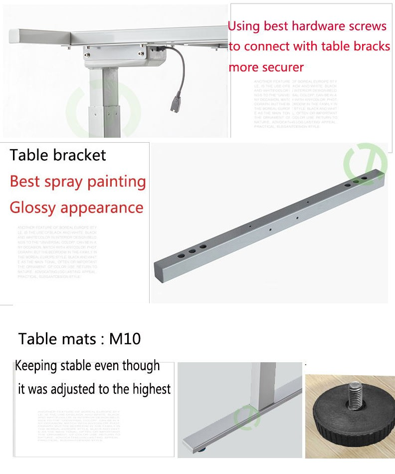 Wholesale the high character electric lifting adjustable - Average office desk height ...