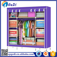 Non woven Steel Wardrobe Best Price with Shelves
