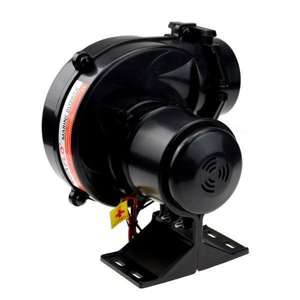 Seaflo In Line Marine Boat Water Bilge Air Blower 130CFM Boat Black Ventilation 12V 2.5AMP CE 220M3/H
