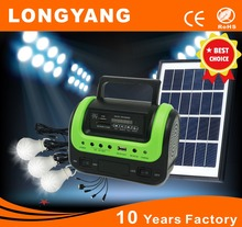 Portable 5W solar energy kit with FM MP3 player 5W led bulb made in china