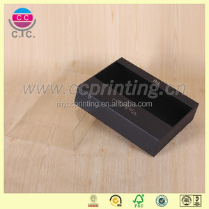 Fancy pvc cover black small glass bottles packaging box