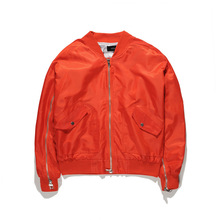 OEM stock orange bomber <span class=keywords><strong>giacca</strong></span> mens