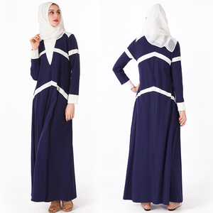 Navy Hooded Classic Sport Jilbab Modest Islamic Fashion Long Dress Women Abaya Turkey