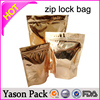 YASON clear front and foil back bag with ziplock for cosmetic packaging clear plastic zip bags brown aluminum foil zipper/ziploc